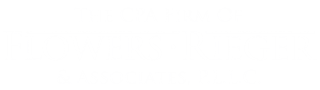 Flowers Rieger White Logo cropped, Tucson CPA Firm, Accounting, Bookkeeping, and Tax Preparation