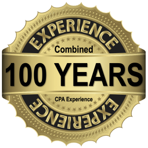 100 Years Experience logo, Flowers Rieger, Tucson CPA Firm, Accounting, Bookkeeping, and Tax Preparation, www.flowersrieger.com